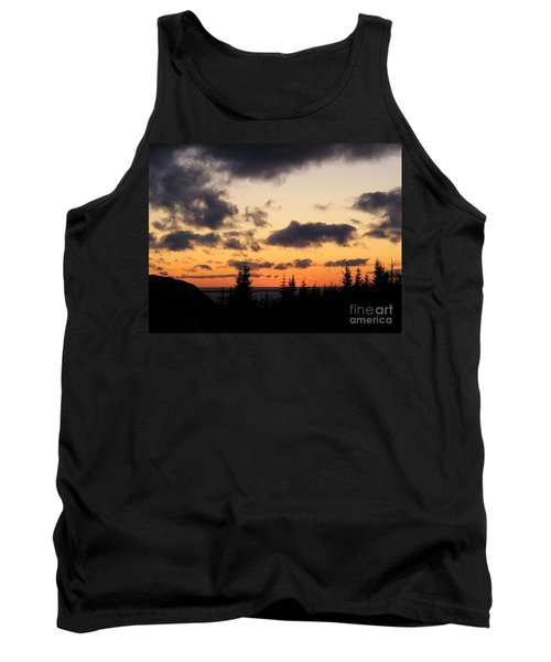 Sunset And Dark Clouds Tank Top by Barbara Griffin