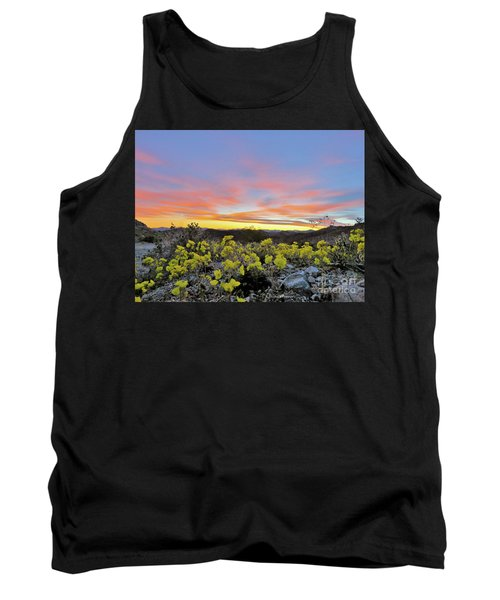 Sunset And Primrose Tank Top by Michele Penner