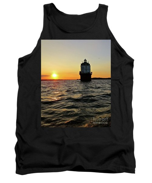 Sunset At Baltimore Light  Tank Top by Nancy Patterson