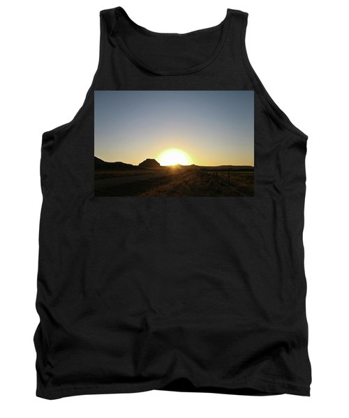 Sunset At Castle Butte Sk Tank Top