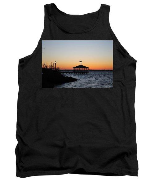 Sunset At Fagers Island Gazebo Tank Top