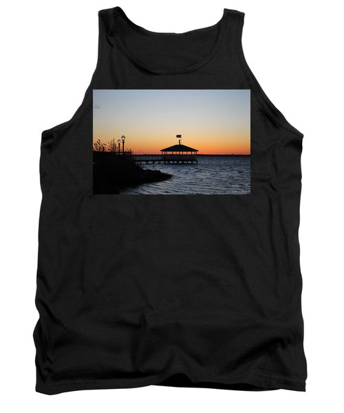 Sunset At Fagers Island Gazebo Tank Top