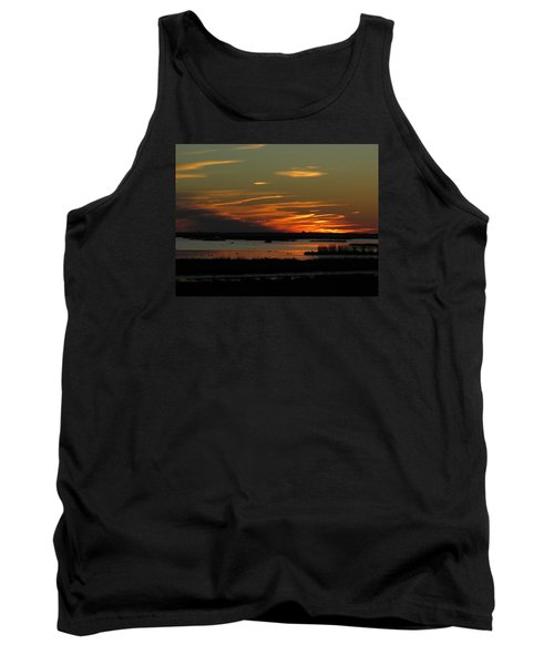 Tank Top featuring the photograph Sunset At Forsythe Reserve by Melinda Saminski