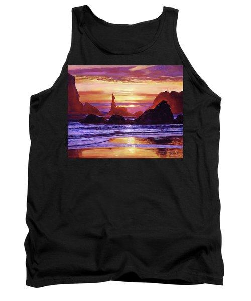 Sunset At Oregon Rocks Tank Top