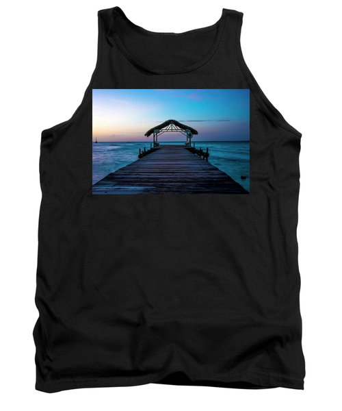 Tank Top featuring the photograph Sunset At Pigeon Point by Rachel Lee Young
