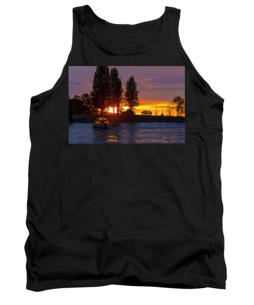 Sunset At Sunset Beach In Vancouver Bc Tank Top