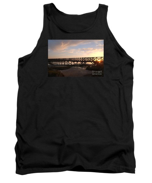 Sunset At The Wooden Bridge Tank Top