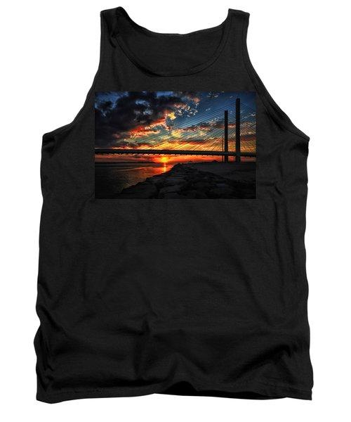 Sunset Bridge At Indian River Inlet Tank Top