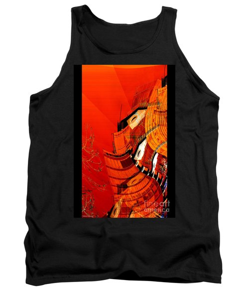 Sunset Building Tank Top by Thibault Toussaint