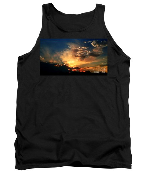 Tank Top featuring the photograph Sunset Of The End Of June by Zedi