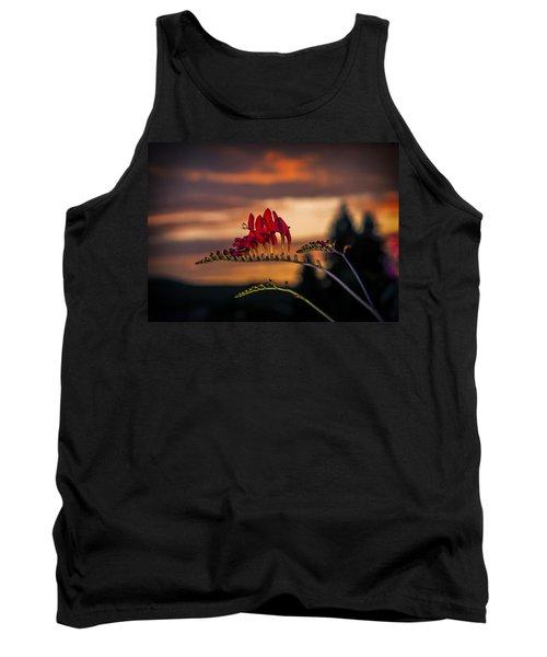Sunset Crocosmia Tank Top