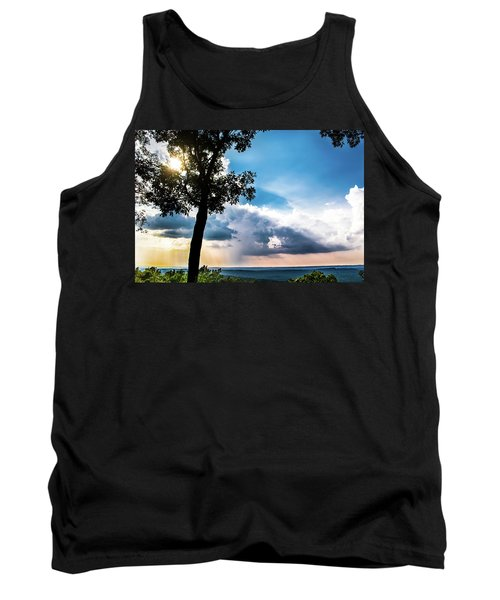 Tank Top featuring the photograph Sunset Explosion by Shelby Young
