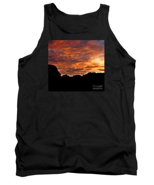 Sunset Fire Tank Top by Christy Ricafrente