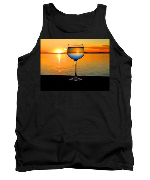 Sunset In A Glass Tank Top