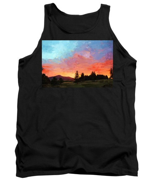 Sunset In Oregon Tank Top