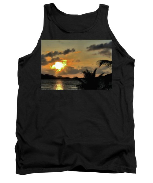 Sunset In Paradise Tank Top by Jim Hill
