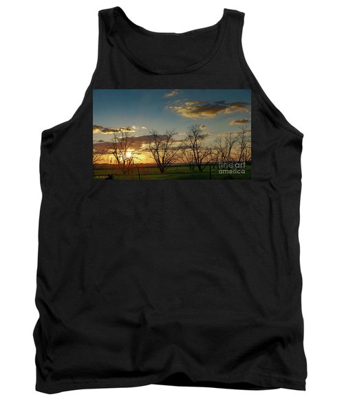 Sunset In The Fields Of Binyamina Tank Top
