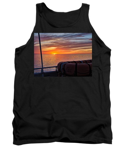 Sunset In The Gulf Tank Top