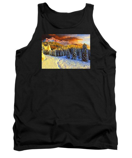 Sunset In The Rockys Tank Top