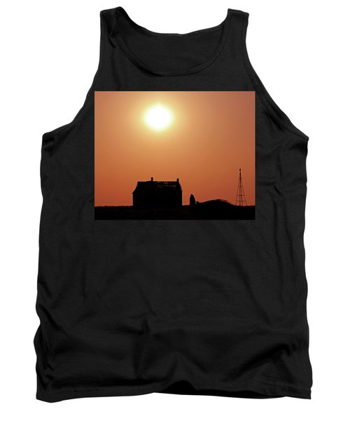 Tank Top featuring the photograph Sunset Lonely by Christopher McKenzie