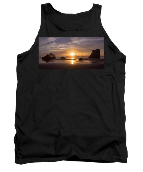 Sunset On Bandon Beach Tank Top