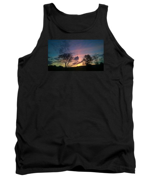 Sunset On Hunton Lane #12 Tank Top by Carlee Ojeda