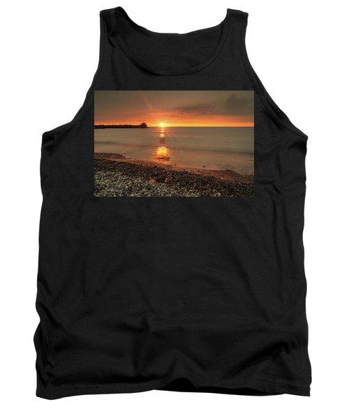 Sunset On Huron Lake Tank Top