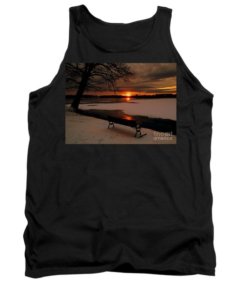 Sunset On Lake Quanapowitt Tank Top