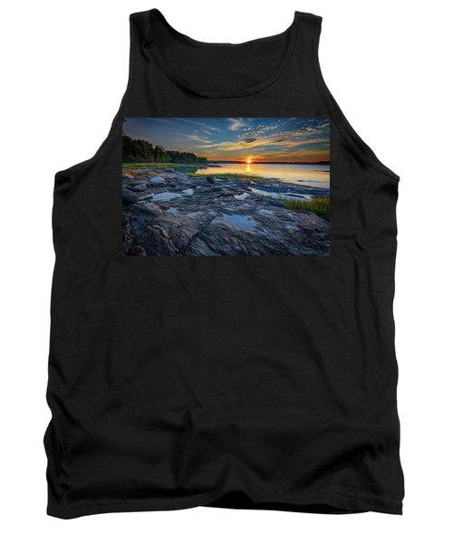 Tank Top featuring the photograph Sunset On Littlejohn Island by Rick Berk