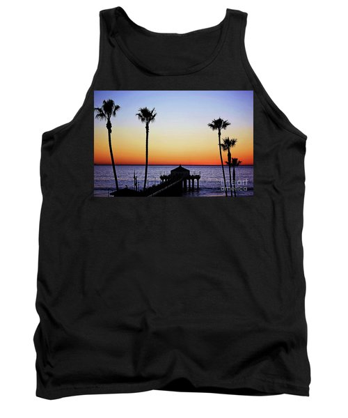 Sunset On Manhattan Beach Pier Tank Top