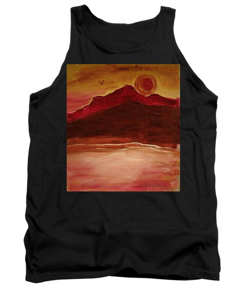 Sunset On Red Mountain Tank Top