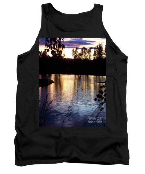 Sunset On River Tank Top