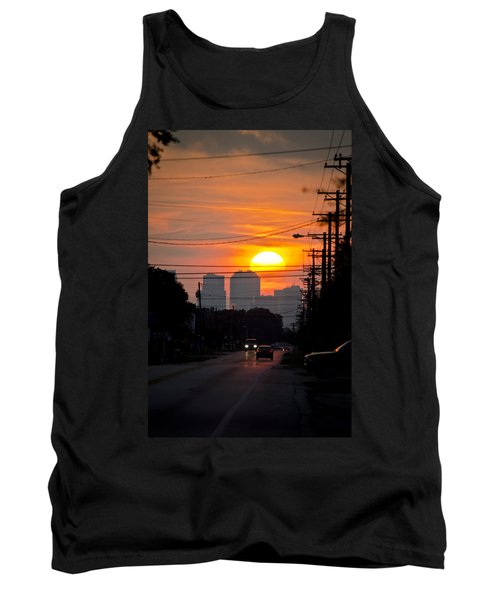 Sunset On The City Tank Top