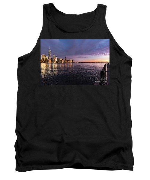 Sunset On The Hudson River Tank Top