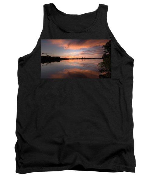 Sunset On The Lake Tank Top