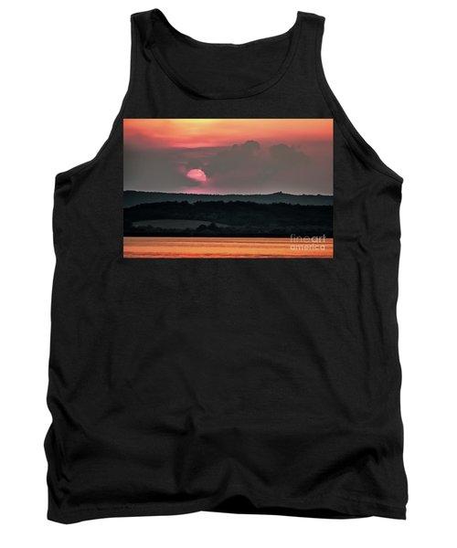 Sunset On The Lake Velence Paint Tank Top