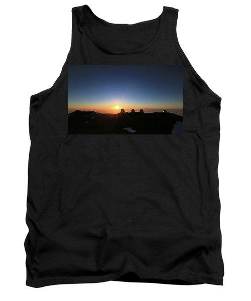 Sunset On The Mauna Kea Observatories Tank Top