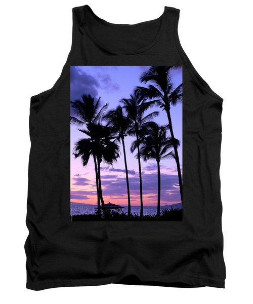 Tank Top featuring the photograph Sunset On The Palms by Debbie Karnes