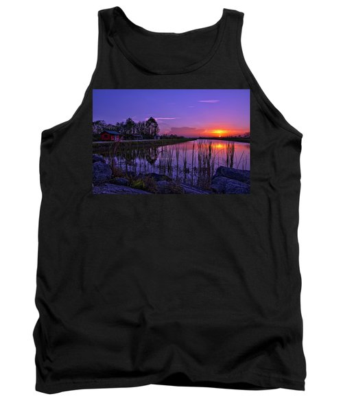 Sunset Over Hungryland Wildlife Management Area Tank Top