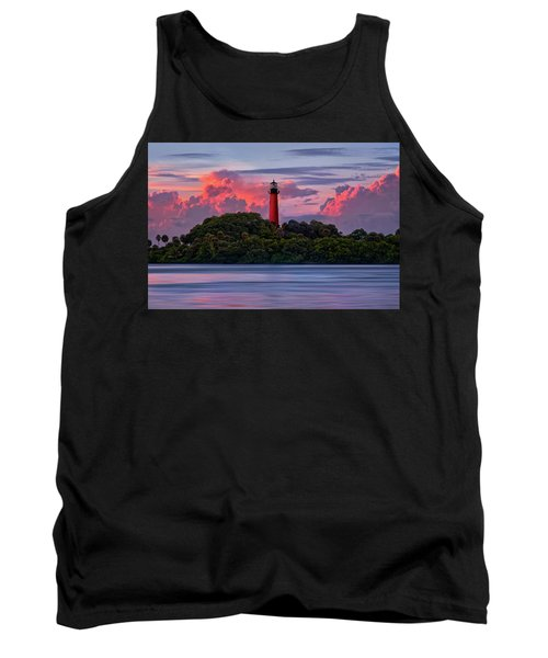 Tank Top featuring the photograph Sunset Over Jupiter Lighthouse, Florida by Justin Kelefas