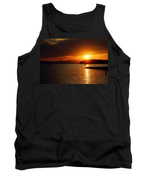 Sunset Over Lake Champlain Tank Top