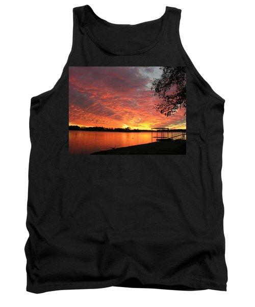 Sunset Over Lake Murray Tank Top