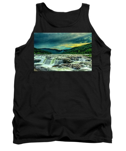 Sunset Over Sandstone Falls Tank Top
