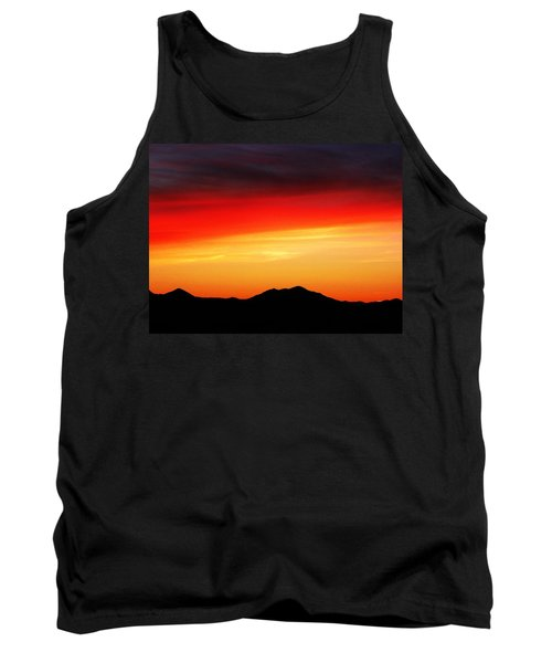 Tank Top featuring the photograph Sunset Over Santa Fe Mountains by Joseph Frank Baraba