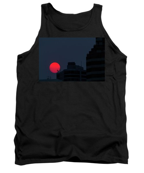 Sunset Over The City Of Portland Oregon Tank Top