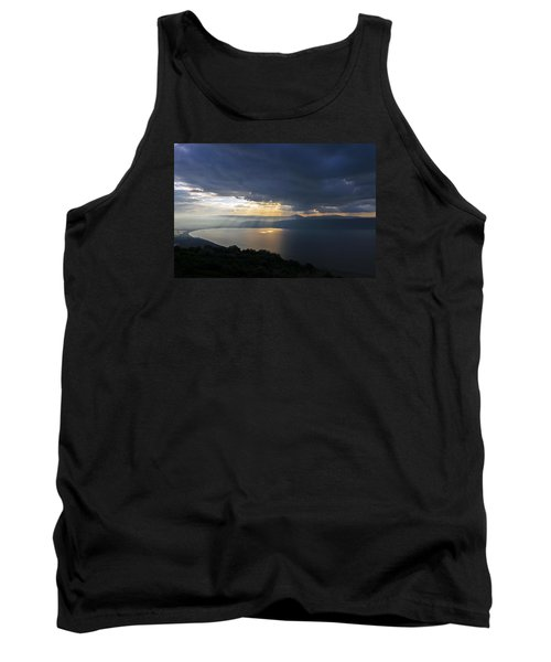Tank Top featuring the photograph Sunset Over The Sea Of Galilee by Dubi Roman