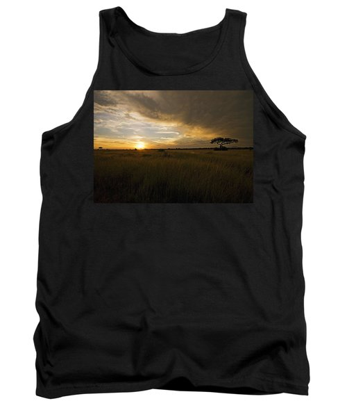 sunset over the Serengeti plains Tank Top