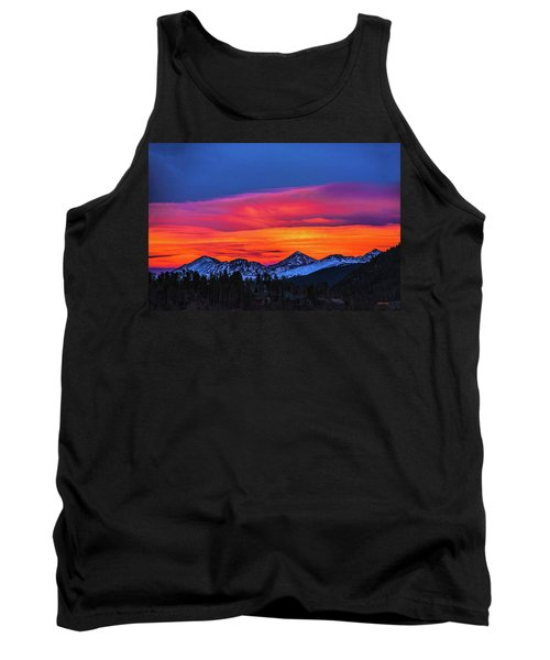 Sunset Over Torreys And Grays Peaks Tank Top
