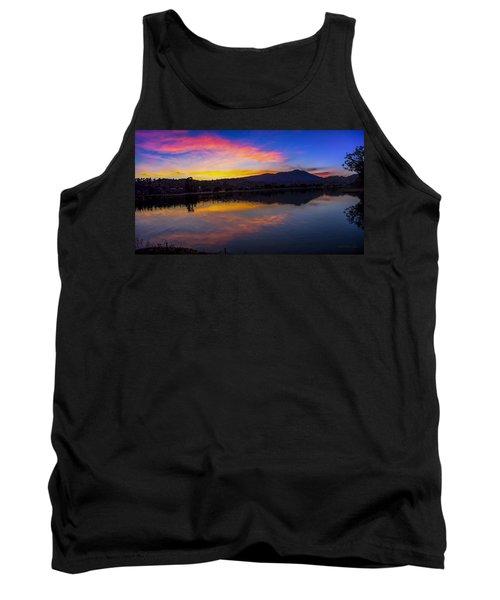 Sunset Panorama Of Mt. Tam And Richardson Bay Tank Top