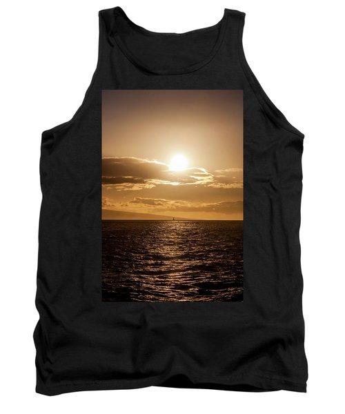 Sunset Sailboat Tank Top